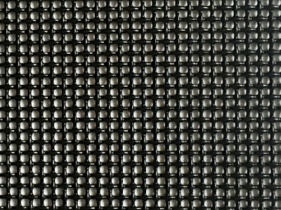 a piece of black 316 stainless steel security screen