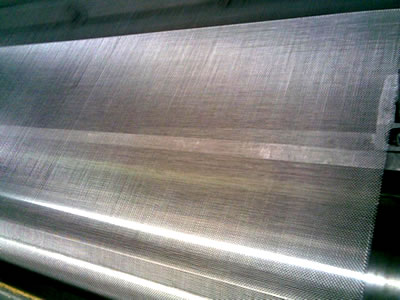 The production process of galvanized steel insect screen.